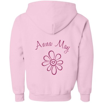 Anna May Flower Youth Gildan Heavy Blend Full-Zip Hoodie