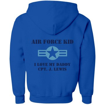 Air Force Kid Youth Gildan Heavy Blend Full-Zip Hoodie