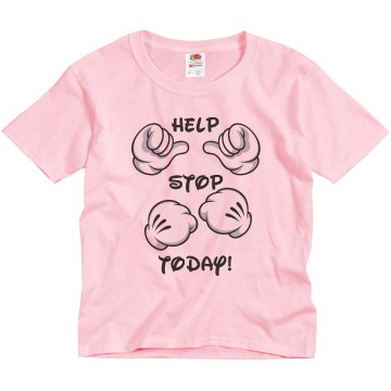 Help Me Stop Bullying Youth Basic Gildan Heavy Cotton Crew Neck Tee