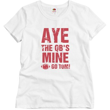 Aye He's Mine Fan Tee Junior Fit Brightline 3/4 Sleeve Jersey Tee