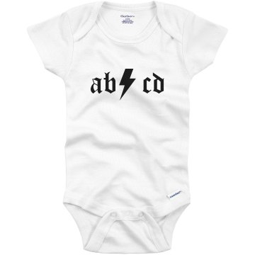 AB CD Rocker Infant Gerber Onesies