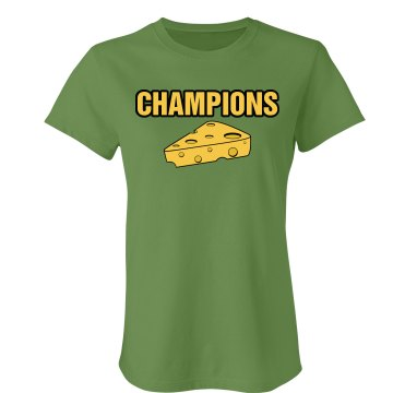 Champions Cheese Wedge Junior Fit Bella Crewneck Jersey Tee