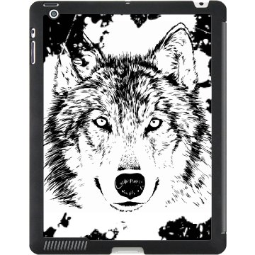 Wolf iPad Case Black iPad Smart Cover