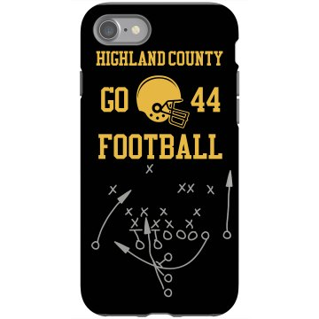 Football iPhone Case Rubber iPhone 4 & 4S Case Black