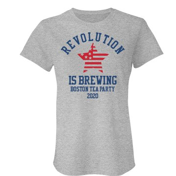 Revolution is Brewing Junior Fit Bella Crewneck Jersey Tee