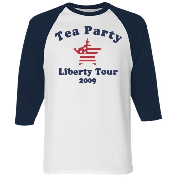 Liberty Tour Unisex Anvil 3/4 Sleeve Raglan Baseball Tee