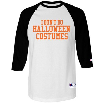 Halloween Costume Tee Unisex Anvil 3/4 Sleeve Raglan Baseball Tee