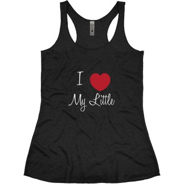 Heart My LIttle Junior Fit Bella Triblend Racerback Tank