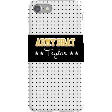 Army Brat iPhone Case Plastic iPhone 5 Case White