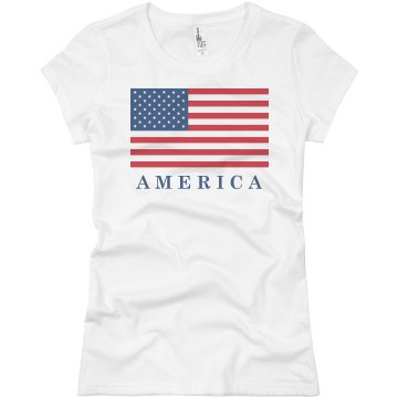America Junior Fit Basic Bella Favorite Tee