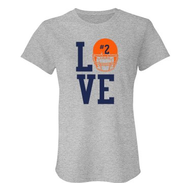 Love Football Junior Fit American Apparel Fine Jersey Tee