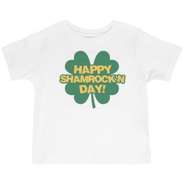 Happy Shamrock'n Day! Toddler Basic Gildan Ultra Cotton Crew Neck Tee