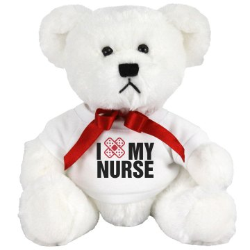 I Love My Nurse Medium Plush Teddy Bear