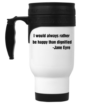 Jane Eyre Mug 14oz White Stainless Steel Travel Mug