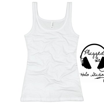 Headphones Tank Junior Fit Basic Bella 2x1 Rib Tank Top