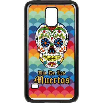 Day Of The Dead Case Rubber Samsung Galaxy S III Case Black