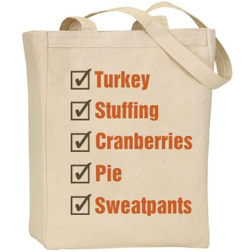 Thanksgiving Shop List Liberty Bags Canvas Tote