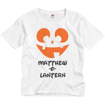 Name-O-Lantern Youth Basic Gildan Ultra Cotton Crew Neck Tee