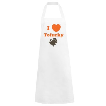 I Love Tofurky Basic White Apron