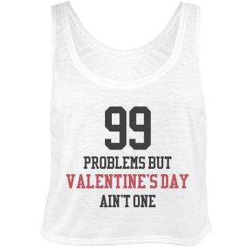 99 Problems Valentine's Bella Flowy Boxy Lightweight Crop Top Tank Top