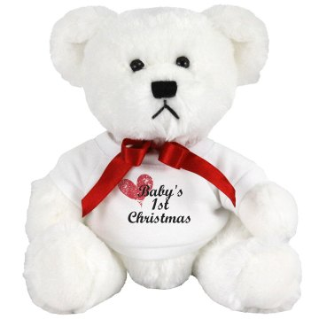 Baby's First Christmas Medium Plush Teddy Bear
