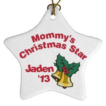 Mommy's Star Ornament Porcelain Star Ornament
