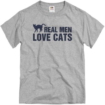 Real Men Love Cats Unisex Basic Gildan Heavy Cotton Crew Neck Tee