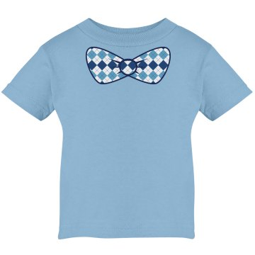 Blue Bow Tie Infant Rabbit Skins Cotton Tee