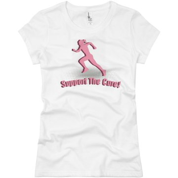 3d Support The Cure Junior Fit Basic Bella Favorite Tee