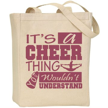 Cheer Thing Tote Bag Liberty Bags Canvas Tote