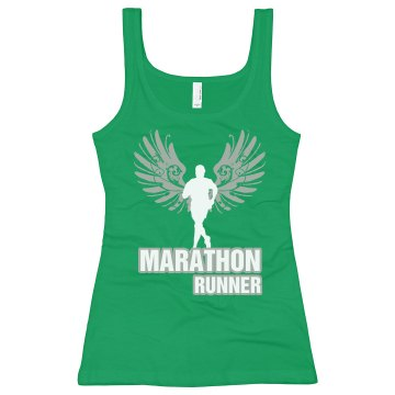 Marathon Wings Junior Fit Bella Longer Length 1x1 Rib Tank Top