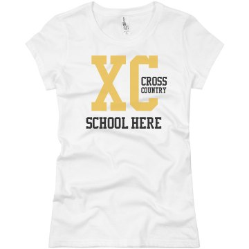 Cross Country Jersey Junior Fit Brightline 3/4 Sleeve Jersey Tee