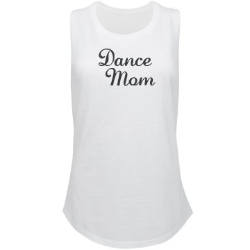 Dance Mom Rhinestone Tee Misses Relaxed Fit Bella Missy V-Neck Tee
