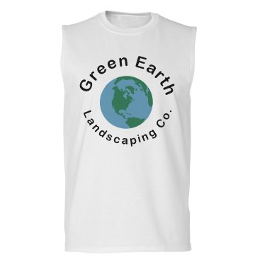 Green Landscaping w&#x2F; Back Unisex Basic Gildan Ultra Cotton Sleeveless Tee