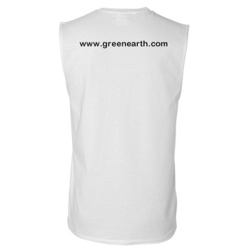 Green Landscaping w/ Back Unisex Basic Gildan Ultra Cotton Sleeveless Tee