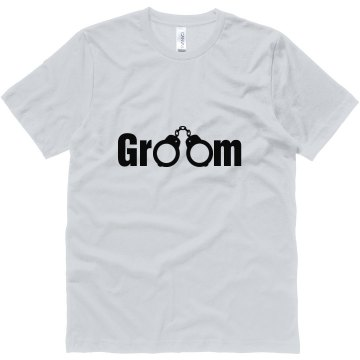 Handcuffed Groom Unisex Canvas Jersey Tee