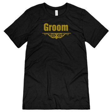 Groom Accent Unisex Canvas Jersey Tee