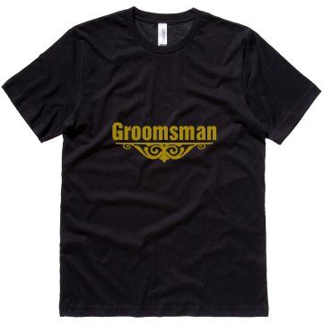 Groomsman Accent Unisex Canvas Jersey Tee