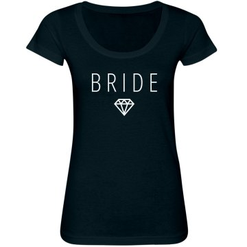Bride Accent Junior Fit Bella Sheer Longer Length Scoopneck Tee