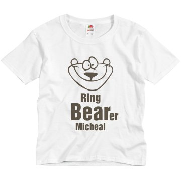 Ring BEARer Youth Basic Gildan Ultra Cotton Crew Neck Tee