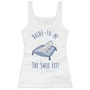 Bride To Be, The Shoe Fit Junior Fit Basic Bella 2x1 Rib Tank Top