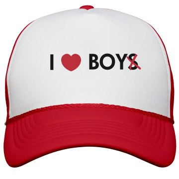 I Heart Boy Hat KC Caps Poly-Foam Snapback Trucker Hat
