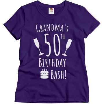 NaNa's 50th bash! Misses Relaxed Fit Gildan Ultra Cotton Tee