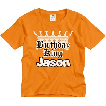 Birthday King Youth Gildan Ultra Cotton Crew Neck Tee