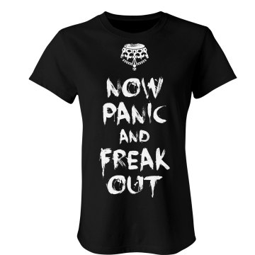 Now Panic &amp; Freak Out Junior Fit Bella Sheer Longer Length Rib Tee
