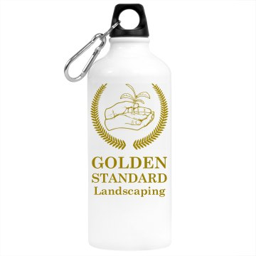 Golden Standard Landscape Aluminum Water Bottle
