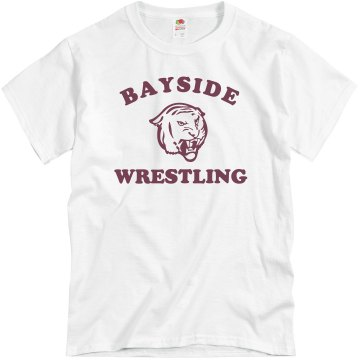 Bayside Wrestling Unisex Basic Gildan Heavy Cotton Crew Neck Tee
