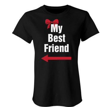 My Best Friend Right Junior Fit Bella Crewneck Jersey Tee