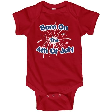 4th Of July Onesie Infant Rabbit Skins Lap Shoulder Creeper