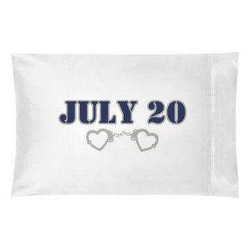 Wedding Date Pillow Pillowcase